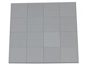 Skládací žíněnka Scarlett Puzzle – šedá, 180 x 180 x 2