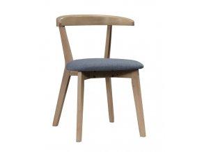 Jídelní čalouněná židle CABERNET šedá/bílá lazura