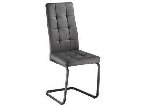 Jídelní čalouněná židle GOTHAM šedá/černá