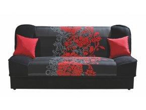 Rozkládací pohovka SORSO s červenými květy