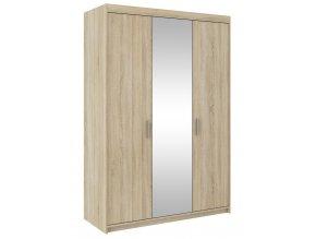 Šatní skříň ELINA 3D dub sonoma/zrcadlo