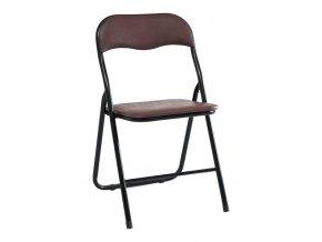 Kovová čalouněná židle TIPO hnědá