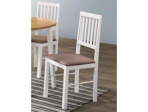 Jídelní čalouněná židle SPLIT bílá/hnědá