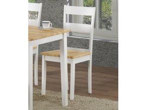 Jídelní židle VALTICE dub/bílá