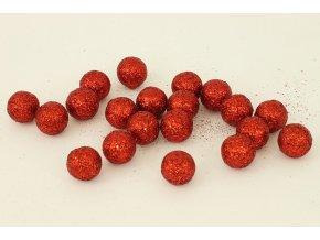 Vánoční dekorační koule - červená. Cena za 1 polybag