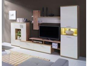 Obývací stěna Nigeria dub zlatý/crem