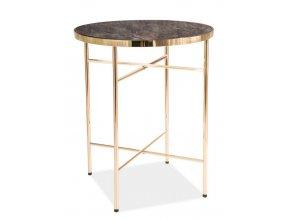 Konferenční stolek IBIZA C mramor/zlatý
