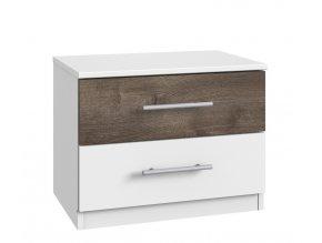 Noční stolek MIRABEL 697 bílá/dub bahenní