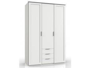 Šatní skříň 3D3S MARGITA 531 bílá