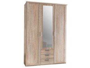 Šatní skříň 3D3S se zrcadlem MARGITA 564 dub
