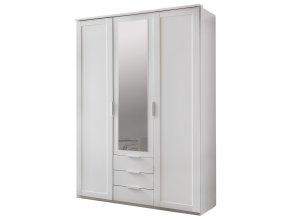 Šatní skříň 3D3S se zrcadlem MARGITA 564 bílá
