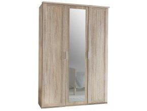 Šatní skříň 3-dveřová MARGITA 565 dub