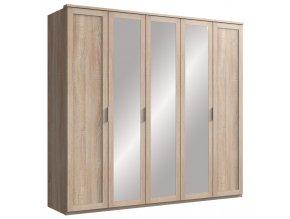 Šatní skříň 5-dveřová MARGITA 566 dub