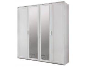 Šatní skříň 4-dveřová MARGITA 568 bílá