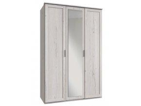 Šatní skříň 3-dveřová MARGITA 565 dub bílý