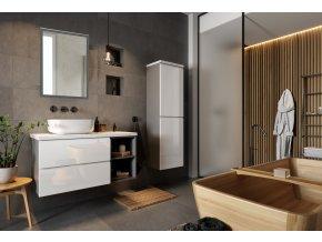 Koupelnová sestava GRANDE I bílá lesk
