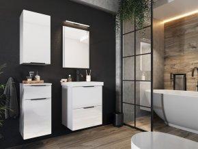 Koupelnová sestava LONGFORD I bílá lesk