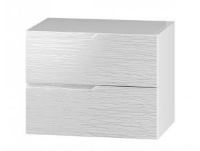 DUM 60 S/2 skříňka pod umyvadlo NARAN bílá hologram