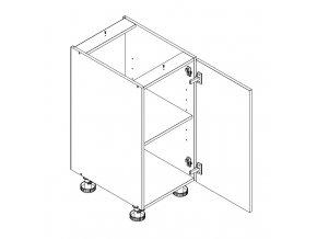 D40 P/L skříňka spodní s PD ARMOY bílá lesk