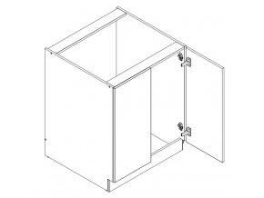 D70 ZPR skříňka spodní s PD ARMOY bílá lesk