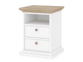 Noční stolek Provence 302 bílá/dub