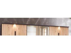 Dekor. lišta skříně s osvětlením KOLOMAN 609 grafit