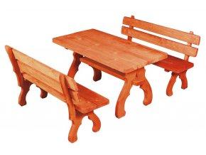 OM-106 zahradní sestava (1x stůl + 2x lavice) výběr barev