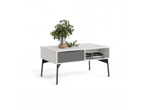 Konferenční stolek Fino bílá/šedá