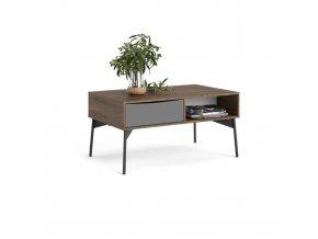 Konferenční stolek Fino ořech/bílá/šedá