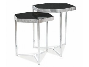 Konferenční stolky MILOS černá/chróm