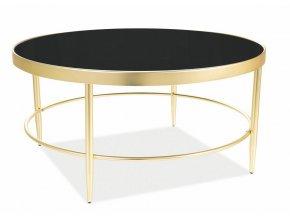 Konferenční stolek MYSTIC B černá/zlatá mat