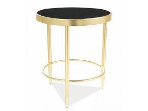 Konferenční stolek MYSTIC C černá/zlatá mat