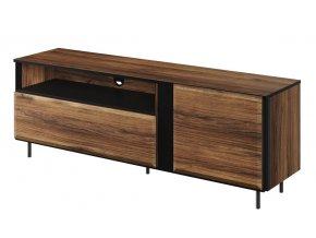 Televizní stolek GARDOB 03 1D1K dub catan/černá