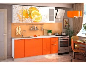 Kuchyně ORANGE 200 cm