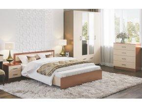 Ložníce HARMONIE (postel, skříň, komoda, 2x noční stolek) jasan šimo