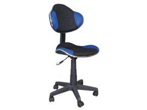 Kancelářská židle Q-G2 černá/modrá