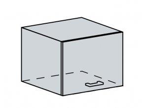 50VP h. skříňka výklopná GREECE bk/bílá metalic
