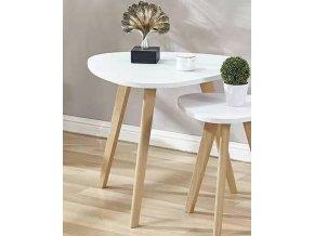 AURA konferenční stolek II bílá/buk