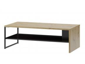 Konferenční stolek LUCAS 41 dub artisan/černá mat