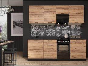 Kuchyně LAVENDER 220 cm dub delano/černá