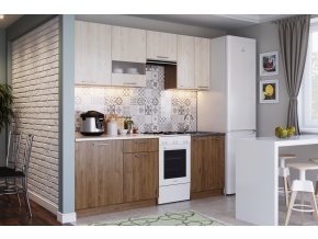 Kuchyně MAGNOLIA 220 cm dub hickory