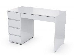 Pracovní stůl MARGOT bílá lesk