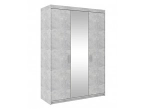 Skříň se zrcadlem Enja 3D beton