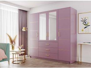 Šatní skříň BASILIO D4 fialová