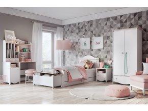 Dětský pokoj ELISA bílá/růžová