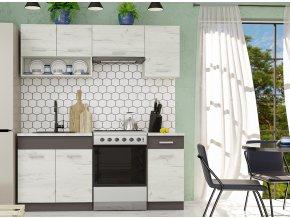 Kuchyně Moreno III 180 dub kraft bílý/grafit
