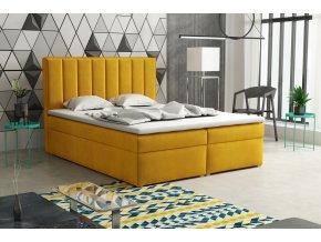 Postel s matrací s ÚP LUCINI BOX 140x200 výběr látek