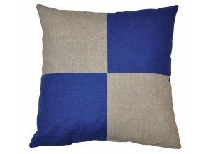 Veselý polštářek - béžová/modrá
