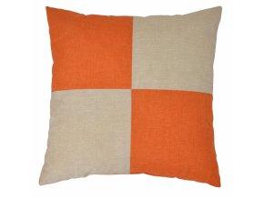 Veselý polštářek - béžová/oranžová