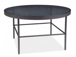 Konferenční stolek VANESSA černá/kouřové sklo